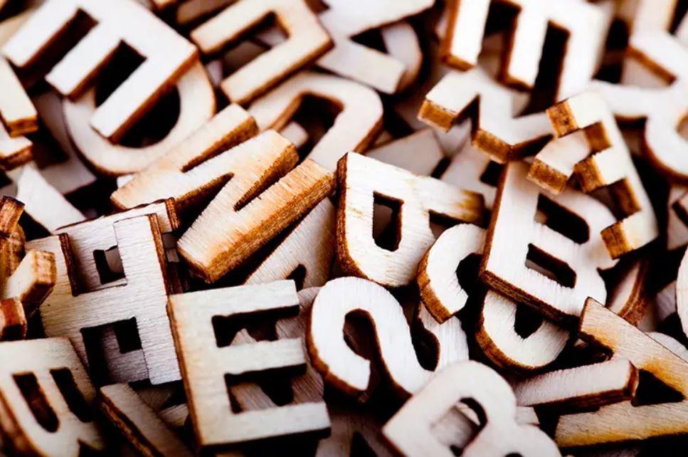Буквы и слова из них